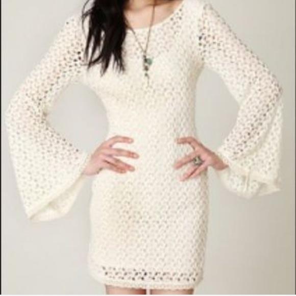 663e5f66b4 Free People Dresses   Skirts - Free People crochet dress w bell sleeves